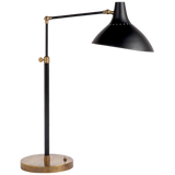 Black and Brass Contrast Task Lamp