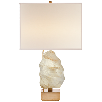 Natural Quartz Base Gold Task Lamp