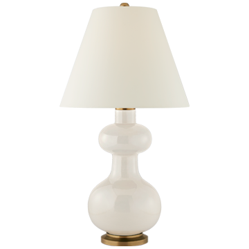 Medium White Base Table Lamp