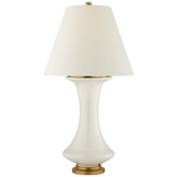 Tall White Base Table Lamp by Visual Comfort