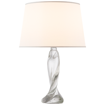Twisted Crystal Clear Table Lamp