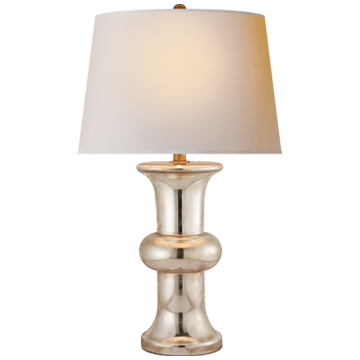 Mercury Glass Cylinder Table Lamp