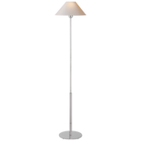 Tall Skinny Polished Nickel Floor Lamp