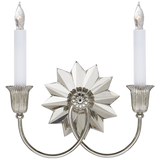 Double Silver Sconce