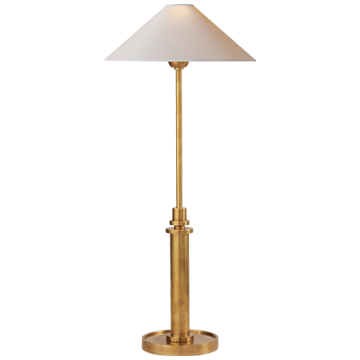 Hand Rubbed Antique Gold Buffet Lamp
