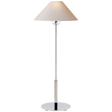 Polished Nickel Tall Slim Neck Table Lamp
