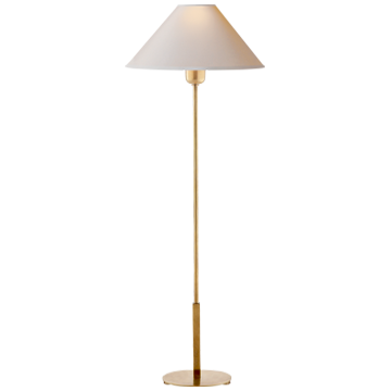 Tall Table Lamp with Gold Skinny Base by Visual Comfort