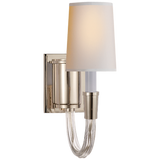 Single polished nickel sconce