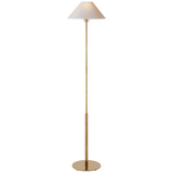 Tall Hand-Brushed Antique Gold Floor Lamp