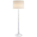 White Plaster Finish Floor Lamp