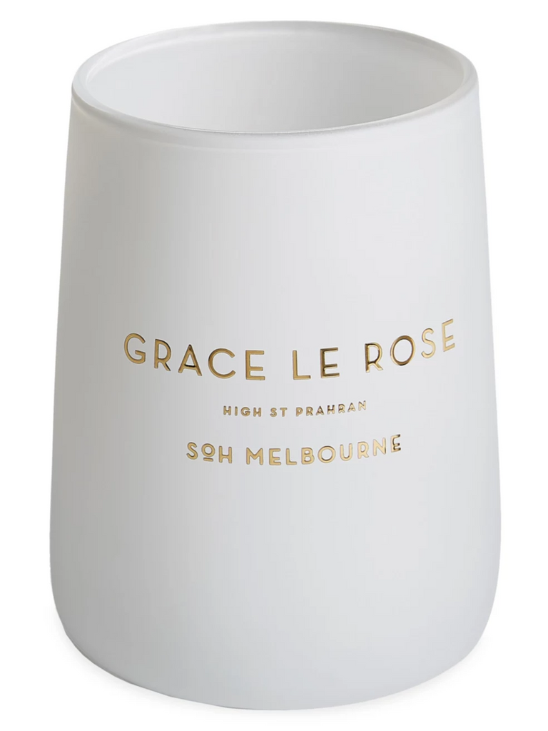 Grace Le Rose White Matte Glass Candle