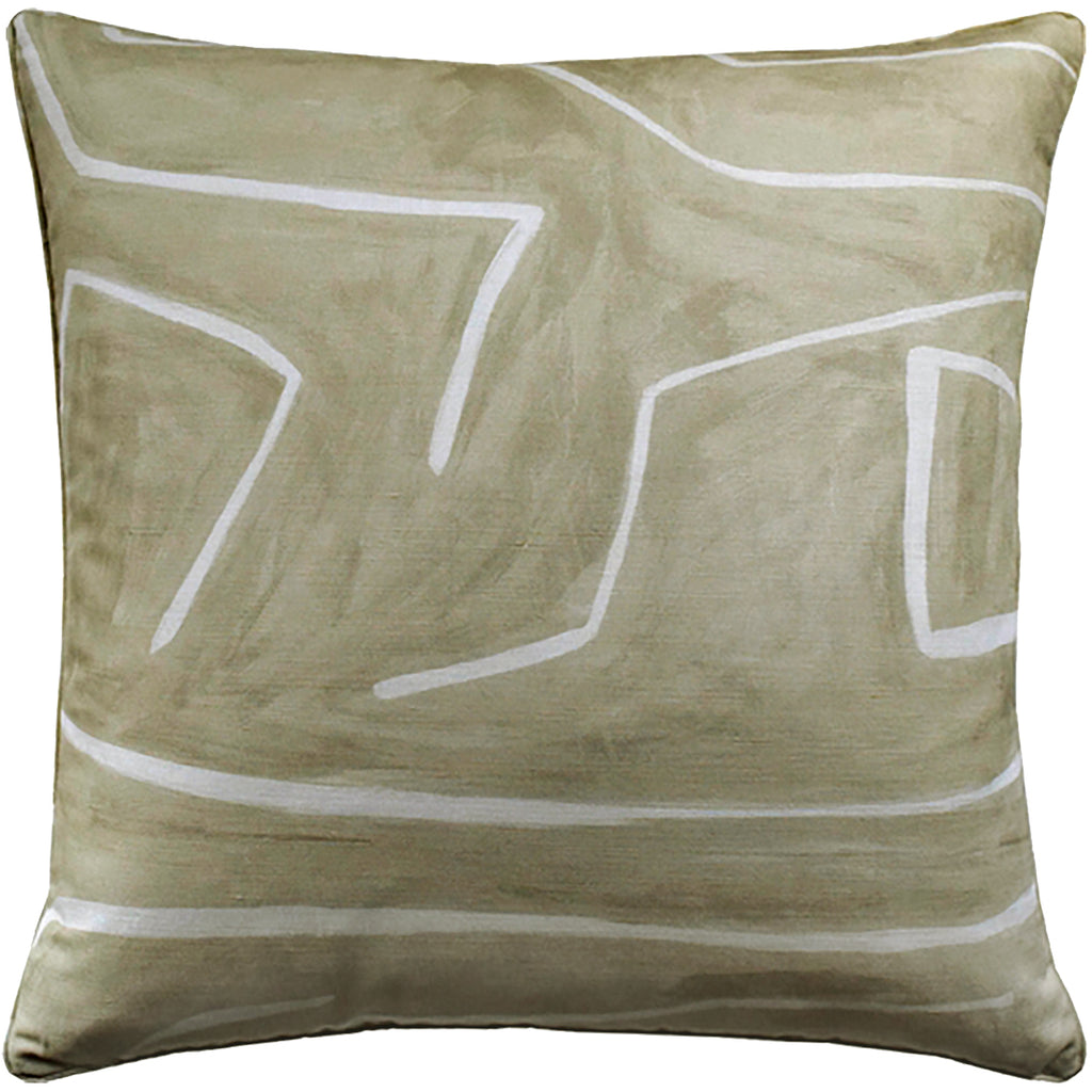Graffito Pillow, Beige, Pair