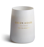 Green House White Matte Glass Candle