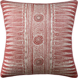 Indian Zag Pillow, Madder, Pair