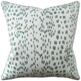 Les Touches Pillow, Green, Pair