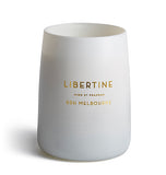 Libertine White Matte Glass Candle