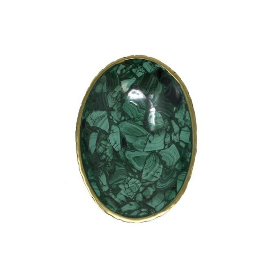 Malachite Bowl Oval