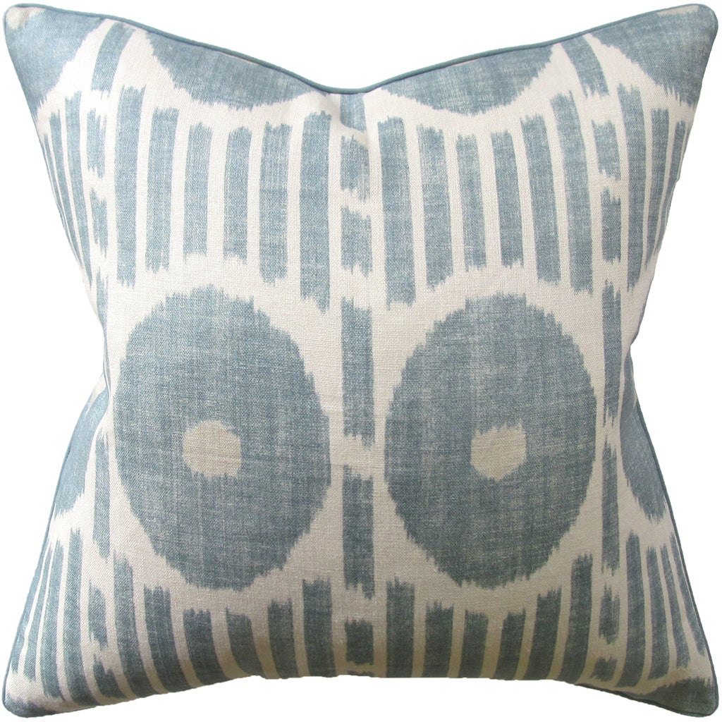Mesa Ikat Pillow, Aqua, Pair