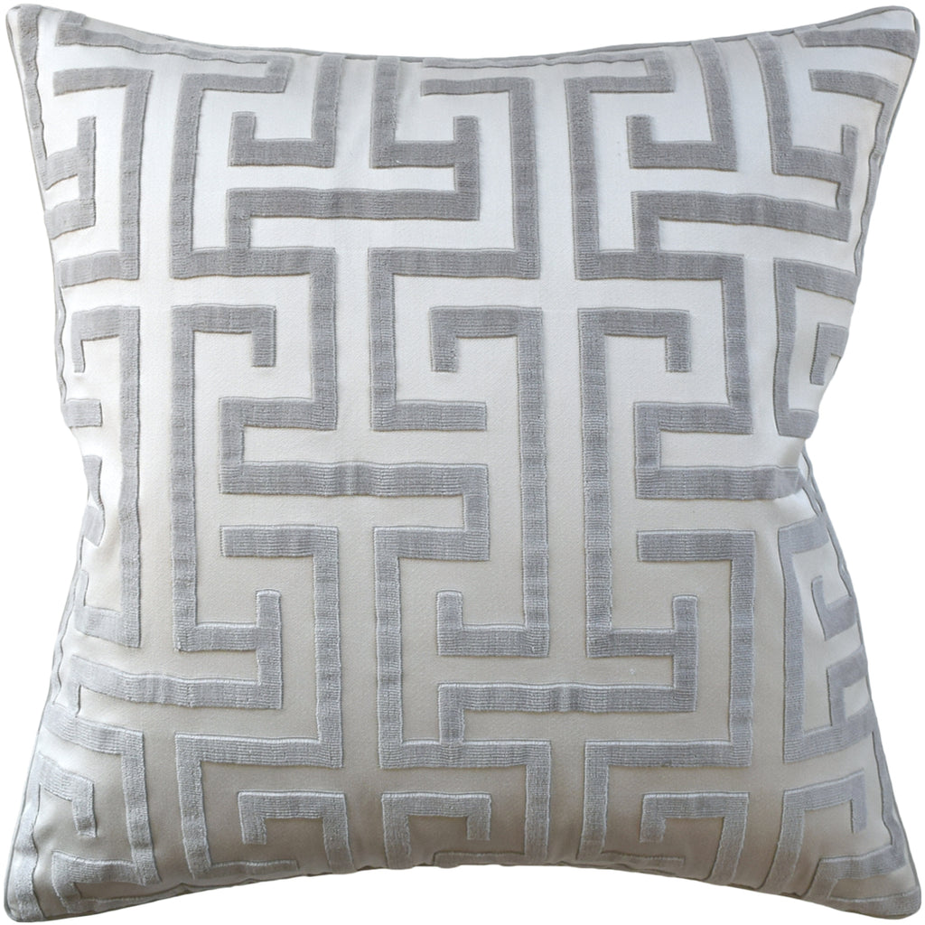 Ming Trail Pillow, Grey, Pair
