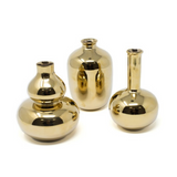 Plum-Shaped Mini Bud Vase, Gold