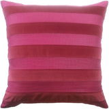 Parker Stripe Pillow, Plumberry, Pair