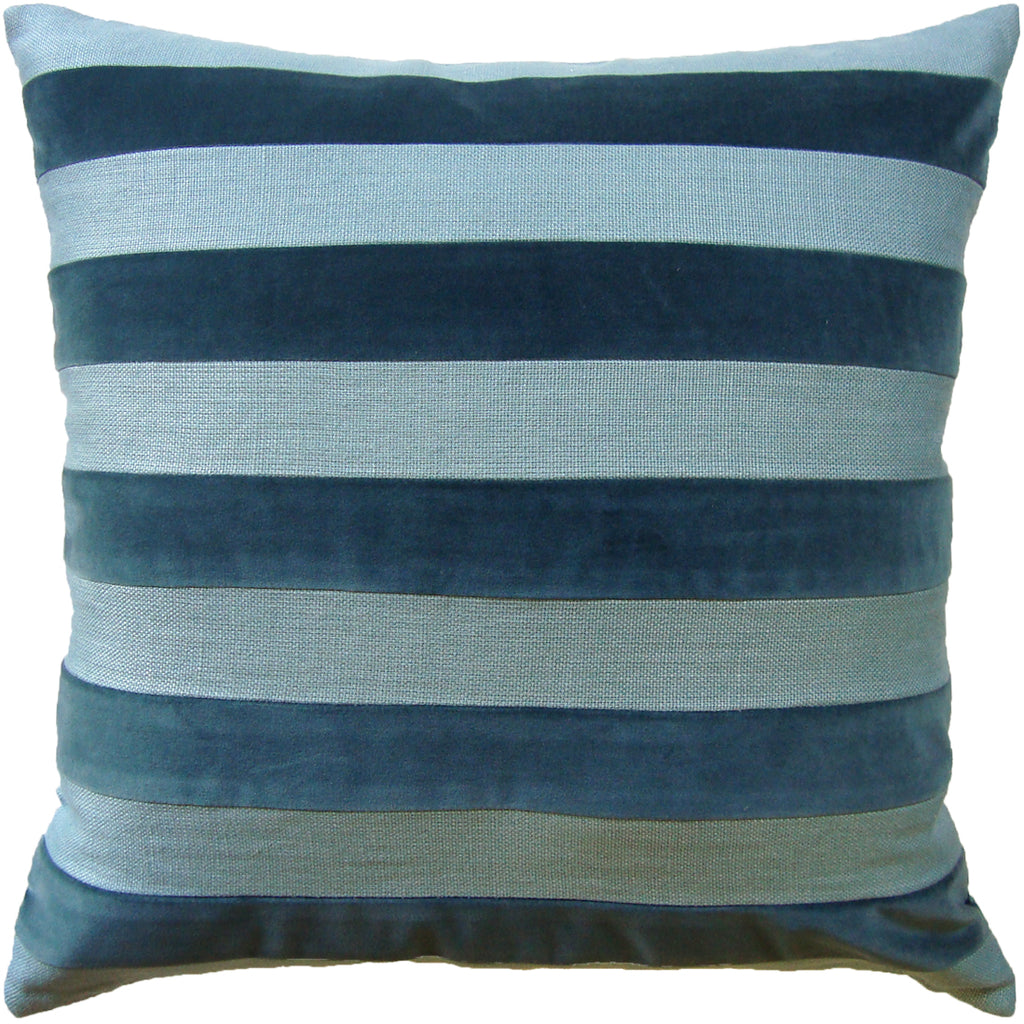 Parker Stripe Pillow, Spa, Pair