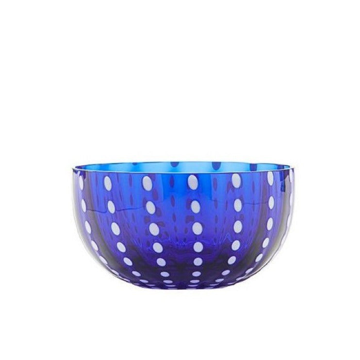 Small Handblown Italian Glass Bowl, Blue