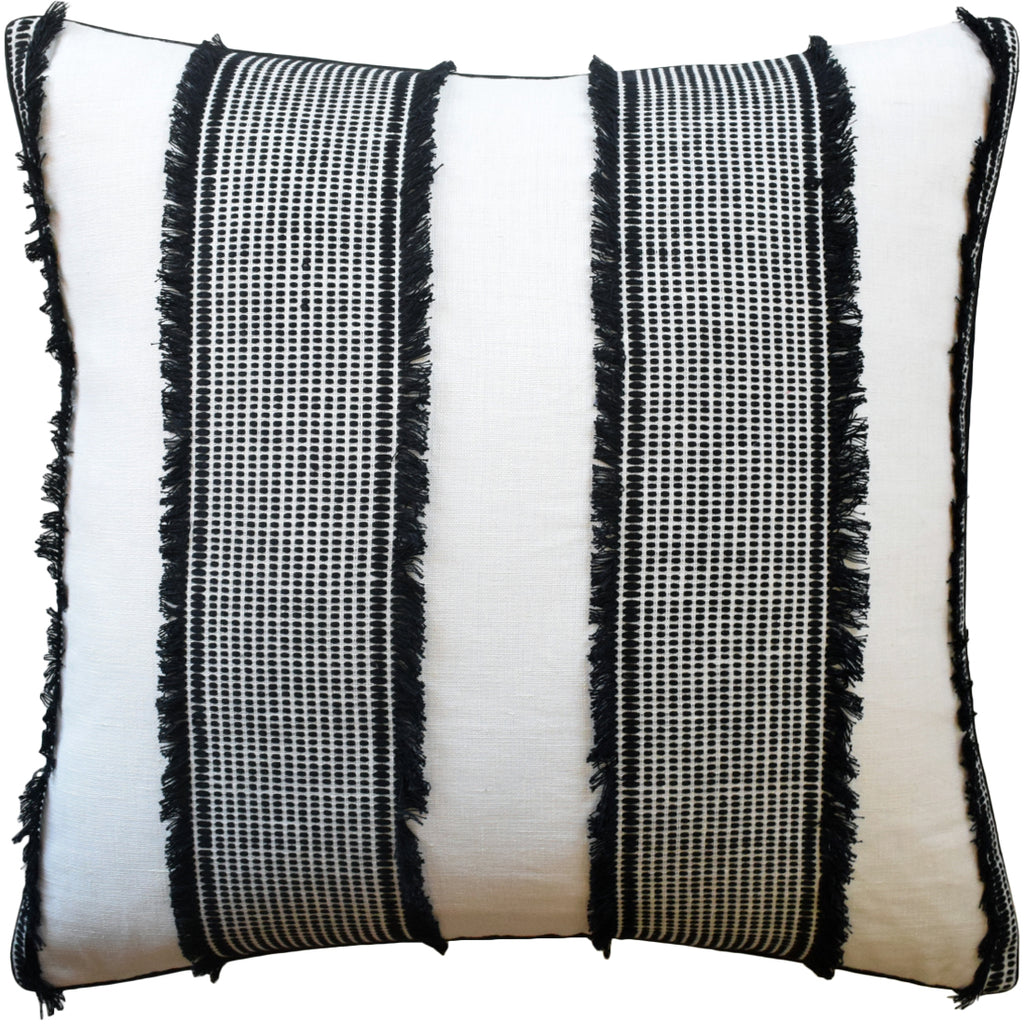 Tulum Pillow, Black, Pair