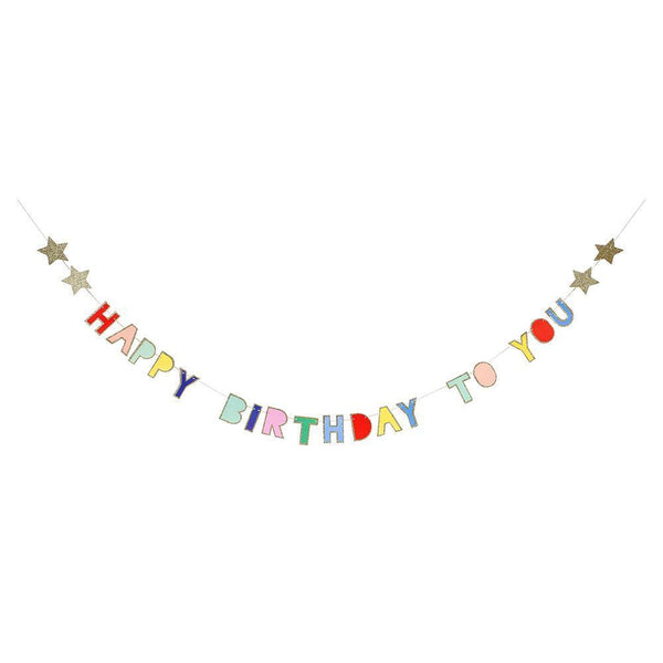 Multicolor Happy Birthday Garland
