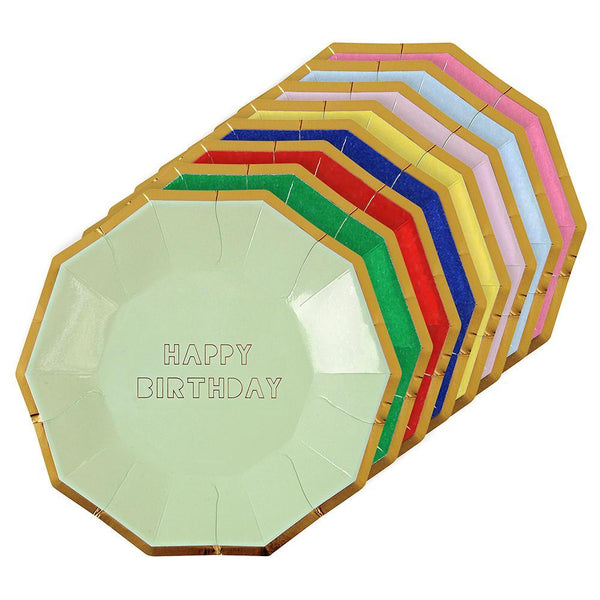 Happy Birthday Plates - Large