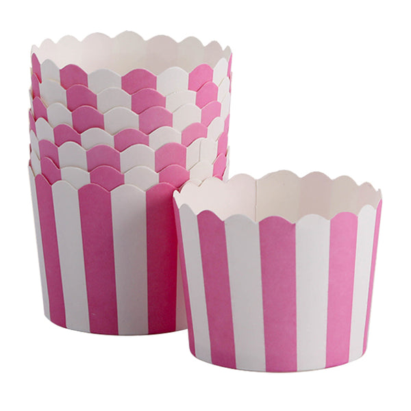 Pink and White Cupcake Liners