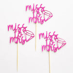 Miss to Mrs. Cupcake Toppers