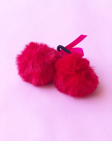 Red Pom Pom Headbands