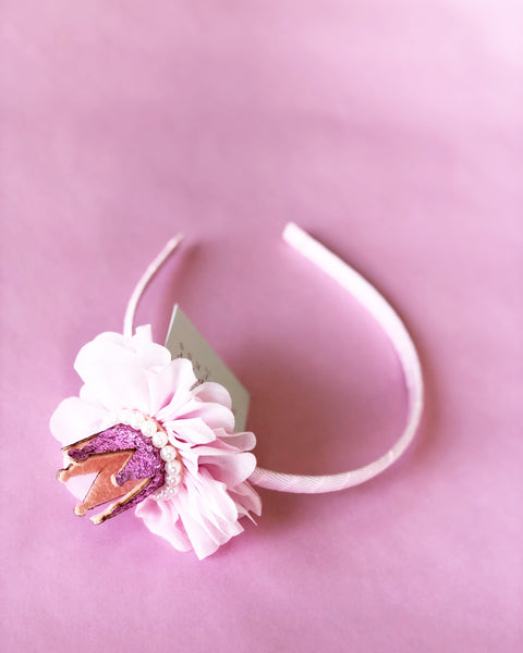Light Pink Crown Headband