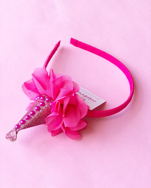 Pink Party Hat Headband