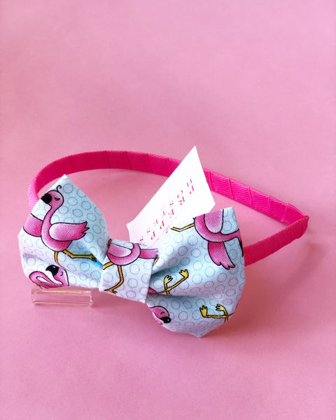 Pink and Blue Flamingo Headband