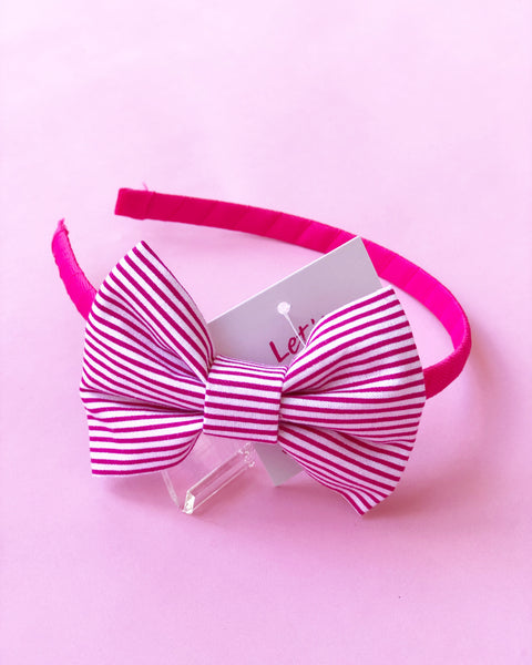 Pink and White Stripe Headband