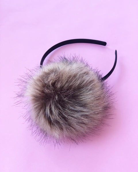 Brown Faux Furry Pom Pom