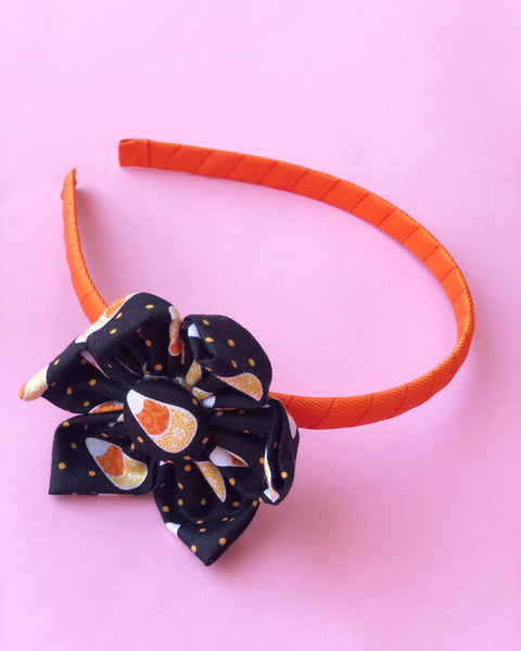 Candy Corn Flower Headband