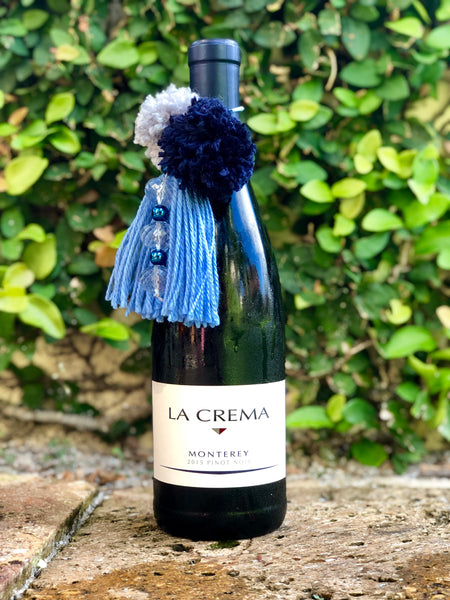 Blue and Grey Wine Tassel
