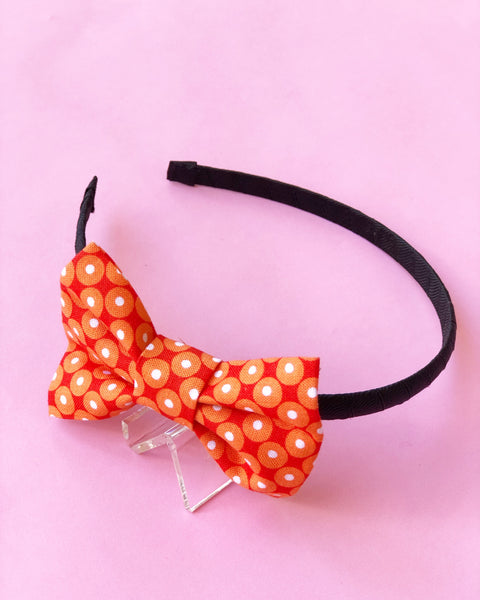 Orange Dot Headband