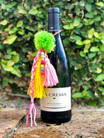 Green, yellow and Pink Wine Tassel