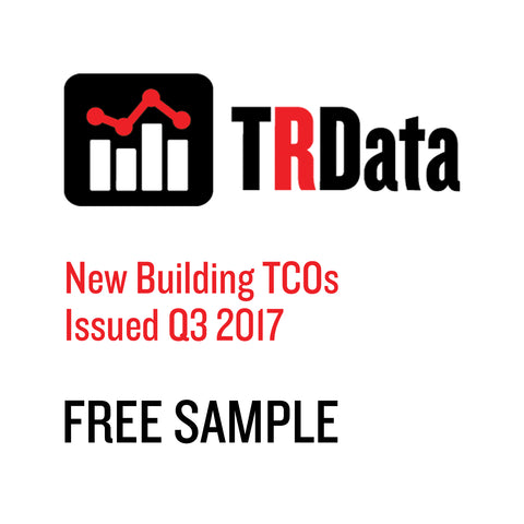 New Building TCOs Issued in Q3 2017 Sample