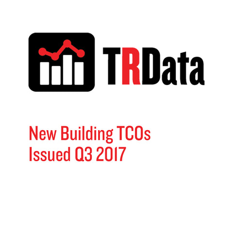 New Building TCOs Issued in Q3 2017