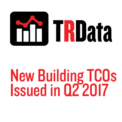 New Building TCOs Issued in Q2 2017