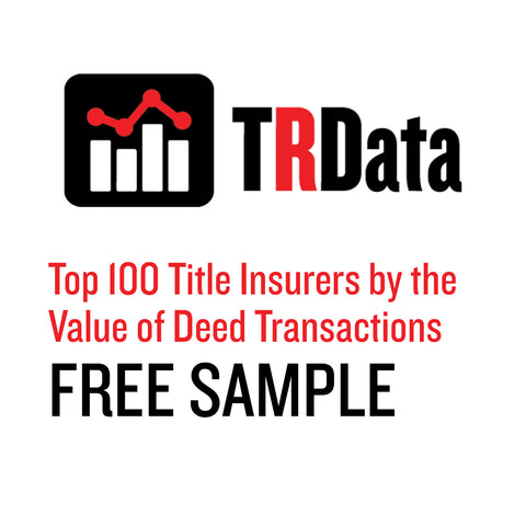 Top 100 Title Insurers by Value of Deed Transactions Sample