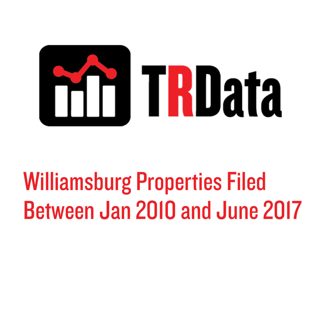 Williamsburg Properties Filed Between Jan 2010 and June 2017