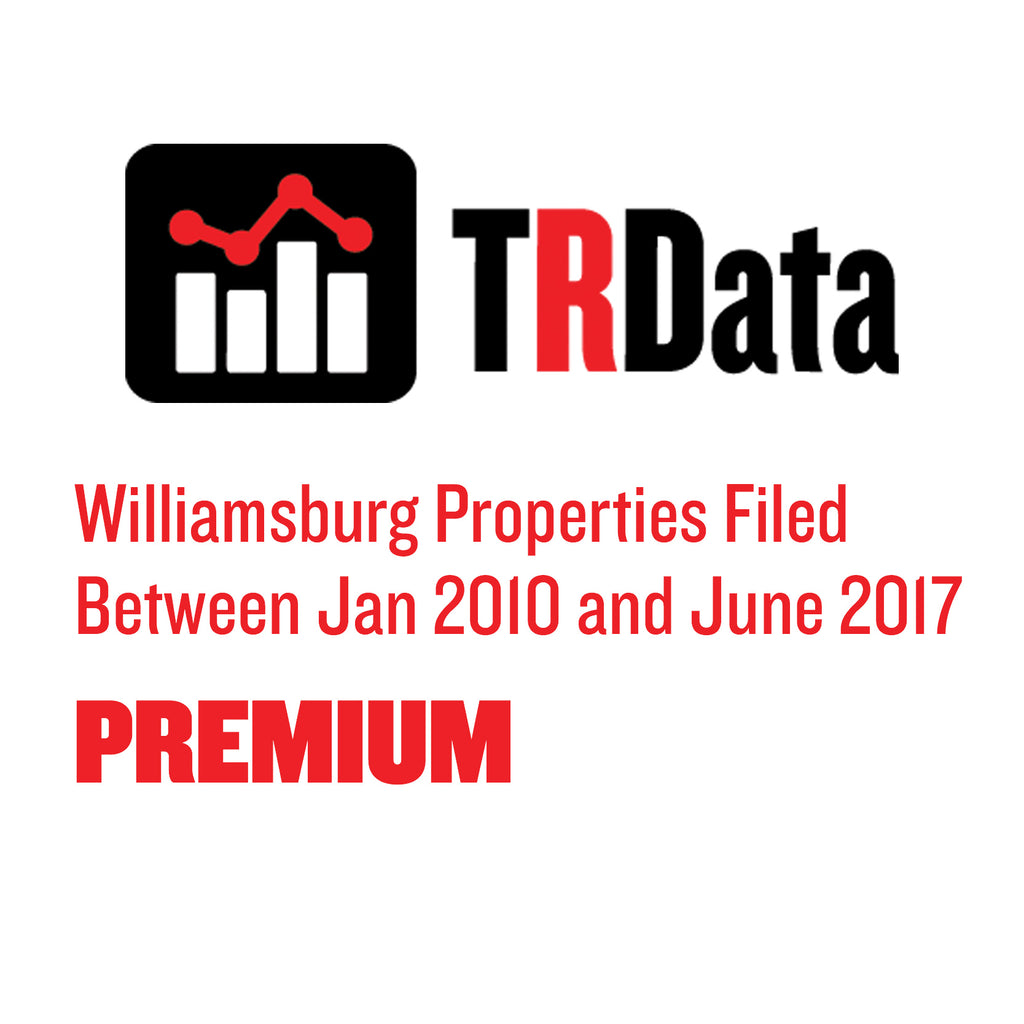 Williamsburg Properties Filed Between Jan 2010 and June 2017 PREMIUM