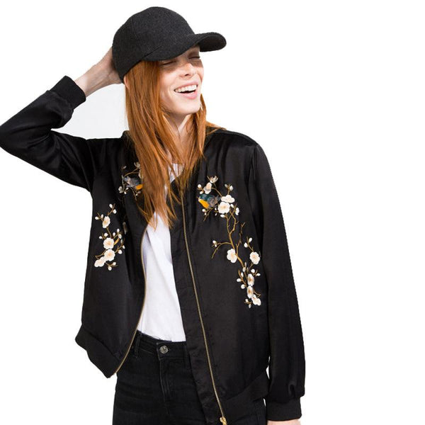 EMBROIDERY FAIRY BOMBER JACKET - VirginHype