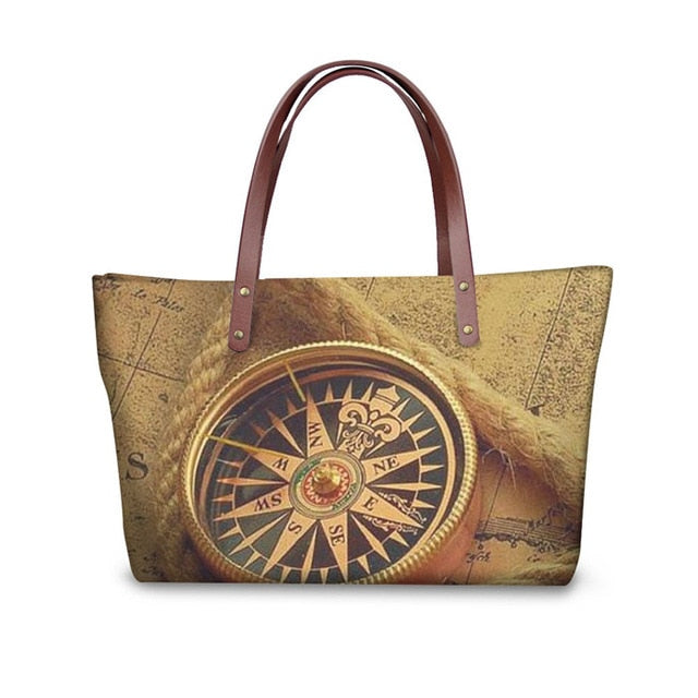 MAP CLOCK BAG
